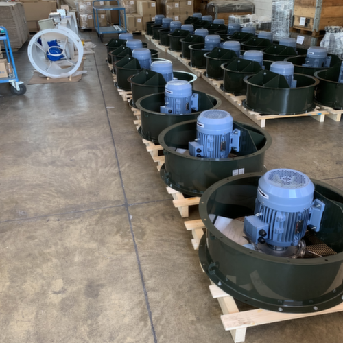 VENTILATORS FOR POTATO DRYING SYSTEMS